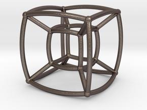 Reuleaux Hypercube in Polished Bronzed Silver Steel