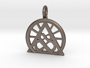 SACREDLIFE SYMBOL OF ABUNDANCE in Polished Bronzed Silver Steel