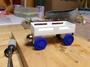Flatbed wheels and axles compatible with Thomas t in White Natural Versatile Plastic