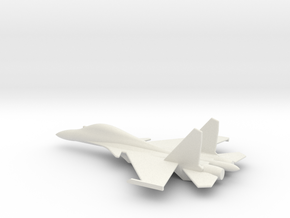 Su-30 Flanker C Russian Jet 1/285 scale in White Strong & Flexible