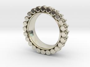 Bullet ring(size = USA 4-4.5) in 14k White Gold