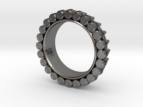 Bullet ring(size = USA 4.5-5) in Polished Nickel Steel