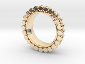 Bullet ring(size = USA 6.5) in 14K Yellow Gold