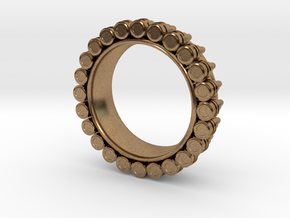 Bullet ring(size = USA 6.5) in Natural Brass