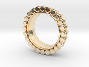 Bullet ring(size = USA 7-7.5) in 14K Yellow Gold