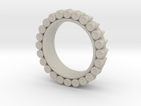 Bullet ring(size = USA 7-7.5) in Natural Sandstone