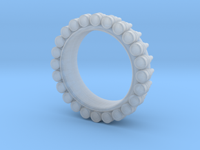 Bullet ring(size = USA 6.5-7) in Smooth Fine Detail Plastic