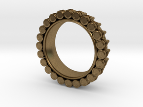 Bullet ring(size is = USA 7.5-8) in Natural Bronze