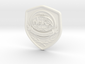 Badge BSAA in White Strong & Flexible Polished