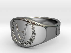 RingVet-Text-23Diam in Fine Detail Polished Silver