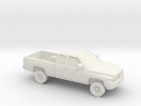1/87 1994-01 Dodge Ram 2500  Extended Cab in White Natural Versatile Plastic