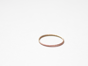 "Ring ""Solo"" / size 7.5 in Raw Bronze"
