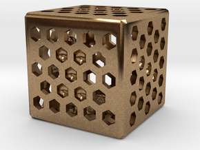 Dice114 in Natural Brass