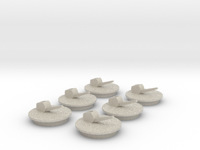 Deckel 19 mm 6stk in Natural Sandstone