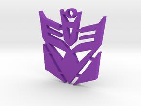 Decepticon Logo Pendant in Purple Processed Versatile Plastic