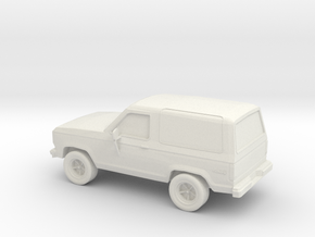 1/87 1987 Ford Bronco II 4X4 in White Natural Versatile Plastic