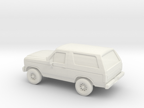 1/87 1984 Ford Bronco in White Natural Versatile Plastic