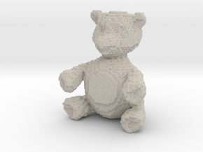 """Chocolate-Bar Brown"" Voxel Bear in Natural Sandstone"