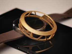 Moto360 Case - Steel in Polished Gold Steel