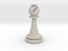 Inception Bishop Chess Piece (Heavy) in Natural Sandstone
