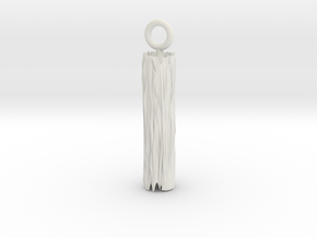 Edge Pendant in White Natural Versatile Plastic