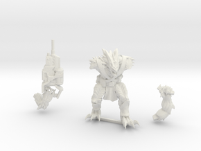 Kurgan with Autocannon in White Natural Versatile Plastic