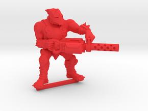 Kelk Hunter with Shredder Cannon (#2) in Red Processed Versatile Plastic