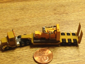 Semi Trailer Heavy Duty Z Scale in Smooth Fine Detail Plastic
