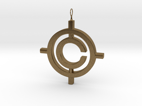 The Conspiracy Pendant in Natural Bronze