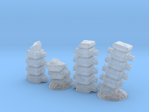 Block Columns (15mm high) in Smooth Fine Detail Plastic