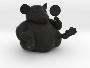 The Candy Mouse in Black Natural Versatile Plastic