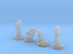 Serpent Columns (15mm high) in Smooth Fine Detail Plastic