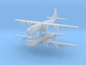 1/600 AN-12 (Cub) Transport Aircraft (x2) in Smooth Fine Detail Plastic