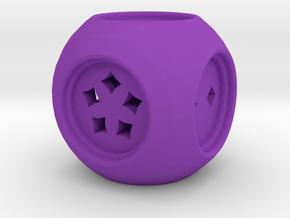 Dice30 in Purple Processed Versatile Plastic