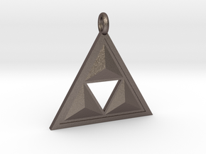 Triforce Keyring in Stainless Steel