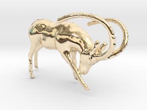 Deer in 14K Yellow Gold