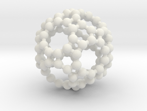 Truncated Icosidodecahedron in White Natural Versatile Plastic