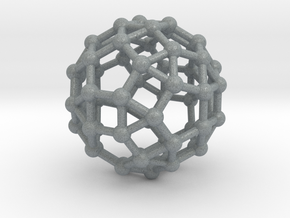 Rhombicosidodecahedron in Polished Metallic Plastic