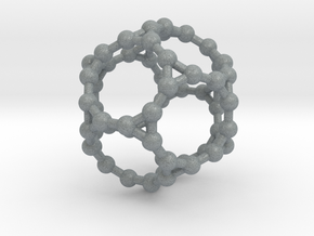 Truncated Dodecahedron in Polished Metallic Plastic