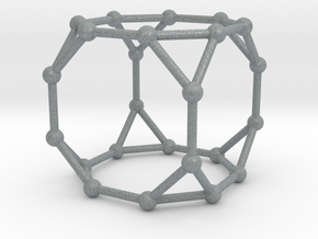 Truncated Cube in Polished Metallic Plastic