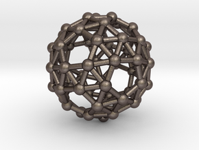 Snub Dodecahedron (left-handed) in Polished Bronzed Silver Steel