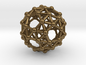 Snub Dodecahedron (right-handed) in Natural Bronze