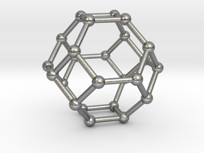 Truncated Octahedron in Natural Silver