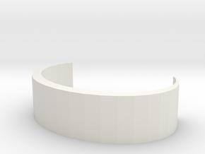 Simple Bracelet in White Natural Versatile Plastic