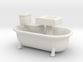O Scale Bath Fixtures in White Natural Versatile Plastic