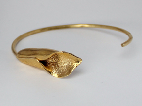 Lilly Bracelet Large in Natural Brass