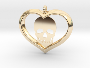 Skull Heart (2) in 14K Yellow Gold