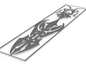 Tribal Bookmark v1 1.5mm in White Natural Versatile Plastic
