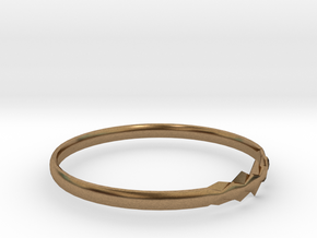RING11BSIZER in Natural Brass