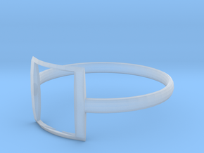 RING17SIZER in Smooth Fine Detail Plastic
